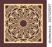 laser cutting panel. golden... | Shutterstock .eps vector #1027225057