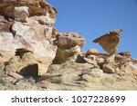 white hoodoos  chimney rock ... | Shutterstock . vector #1027228699