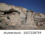 white hoodoos  chimney rock ... | Shutterstock . vector #1027228759