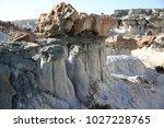 white hoodoos  chimney rock ... | Shutterstock . vector #1027228765