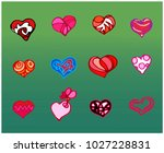 hearts for your design | Shutterstock .eps vector #1027228831