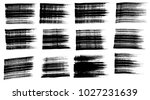 set of black ink vector stains | Shutterstock .eps vector #1027231639