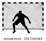 Soccer Goalkeeper Silhouette...
