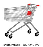 empty shopping cart vector... | Shutterstock .eps vector #1027242499