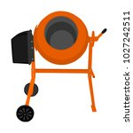 concrete mixer vector icon ... | Shutterstock .eps vector #1027242511