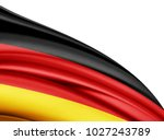 germany  flag of silk with... | Shutterstock . vector #1027243789