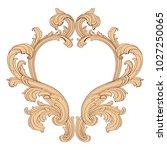 retro baroque decorations... | Shutterstock .eps vector #1027250065