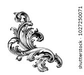 retro baroque decorations... | Shutterstock .eps vector #1027250071
