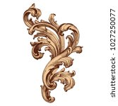 retro baroque decorations... | Shutterstock .eps vector #1027250077