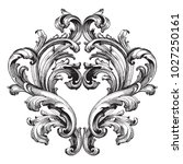 retro baroque decorations... | Shutterstock .eps vector #1027250161