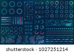 set hud interface elements  ... | Shutterstock .eps vector #1027251214
