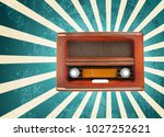 stylish radio on color... | Shutterstock . vector #1027252621