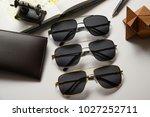 eyewear sun glasses photography  | Shutterstock . vector #1027252711