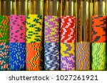 colourful roulette chips in a... | Shutterstock . vector #1027261921