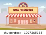 cinema building flat style | Shutterstock .eps vector #1027265185