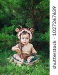little  very beautiful girl ...   Shutterstock . vector #1027267639