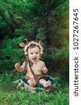 little  very beautiful girl ...   Shutterstock . vector #1027267645