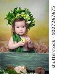 little  very beautiful girl ...   Shutterstock . vector #1027267675