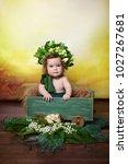 little  very beautiful girl ...   Shutterstock . vector #1027267681