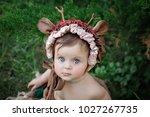 little  very beautiful girl ...   Shutterstock . vector #1027267735