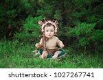 little  very beautiful girl ...   Shutterstock . vector #1027267741