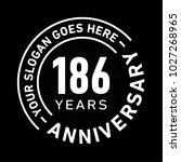 186 years anniversary logo... | Shutterstock .eps vector #1027268965