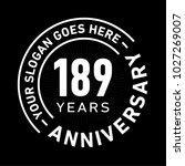 189 years anniversary logo...   Shutterstock .eps vector #1027269007