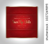 save the date invitation with a ...   Shutterstock .eps vector #1027269895