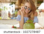 portrait of pleasant looking... | Shutterstock . vector #1027278487