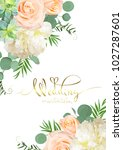 design of wedding card  | Shutterstock .eps vector #1027287601