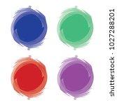 stickers element vector | Shutterstock .eps vector #1027288201