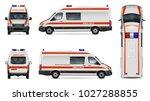 ambulance car vector mock up.... | Shutterstock .eps vector #1027288855