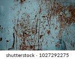 blue rusty metal texture... | Shutterstock . vector #1027292275