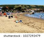 swanage  dorset  uk. september... | Shutterstock . vector #1027292479