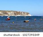 swanage  dorset  uk. september... | Shutterstock . vector #1027293349