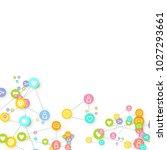 social media marketing ... | Shutterstock .eps vector #1027293661