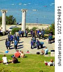 swanage  dorset  uk. september... | Shutterstock . vector #1027294891