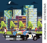 police chilling on work   Shutterstock .eps vector #1027302565