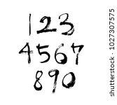 vector fonts   handwritten... | Shutterstock .eps vector #1027307575