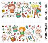 spring children banners kids... | Shutterstock .eps vector #1027310401