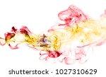 spain flag smoke | Shutterstock . vector #1027310629