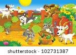 farm panorama   fun place | Shutterstock . vector #102731387