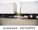 freight vehicles on the track.  | Shutterstock . vector #1027320955