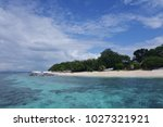 tropical beach of philippines | Shutterstock . vector #1027321921