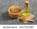 fresh sprouted wheat seeds in... | Shutterstock . vector #1027321987