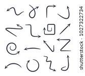 hand drawn arrows. vector hand...   Shutterstock .eps vector #1027322734