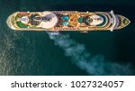 aerial view large cruise ship... | Shutterstock . vector #1027324057