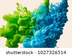 ink in water. abstract... | Shutterstock . vector #1027326514