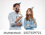 joy  holiday birthday  female... | Shutterstock . vector #1027329721