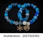 blue   white porcelain and... | Shutterstock . vector #1027331401